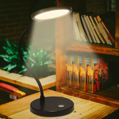 TOP LED Desk Table Lamp USB Dimmable Switch Eye Care Reading Light Clamp Clip On