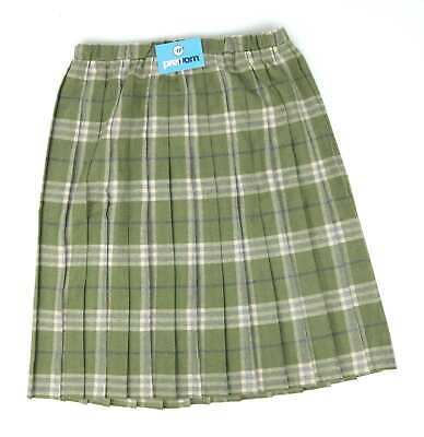 97a5c2ca04 TARTAN PLEATED SKIRT For The Older Women Ladies New Check Skirts Red ...