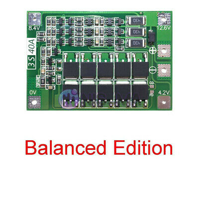 3S 40A 18650 Lithium Battery Charger BMS Protection Charging Board W/ Balanced