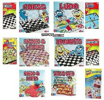 Tradional Family Board Game CHOOSE YOUR OWN Chess Ludo Snakes & Ladders + More