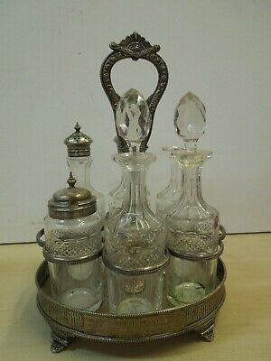 Rare Antique Solid Silver Condiment Set  from 1900  #29B