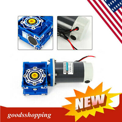 300W DC24V Worm Gear Reducer Gearbox Motor Low Speed+High Torque Self-locking