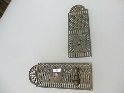Victorian Brass Door Lock Plate Finger Push Antique Georgian French Chateau Old
