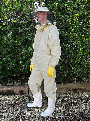 PREMIUM QUALITY Beekeeping Suit Round Hat - Olive. All Sizes. Protective Wear