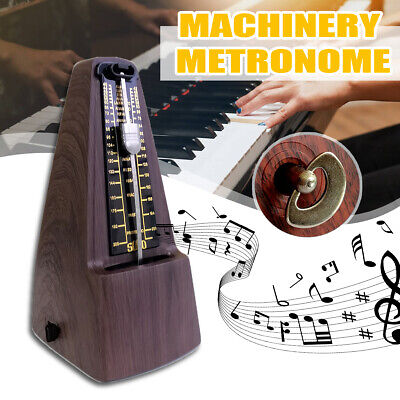 Precise Mechanical Metronome Wood Vintage Music Timer For Guitar Bass Piano