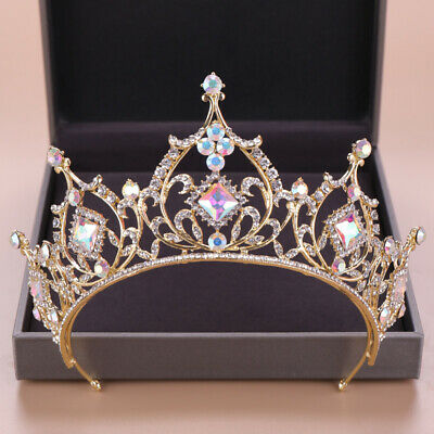 7.5cm High 6 Colors Leaf Crystal Wedding Bridal Party Pageant Prom Tiara Crown