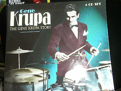 """""""The Gene Krupa Story"""" 4 Cd Set In Top Cond"""