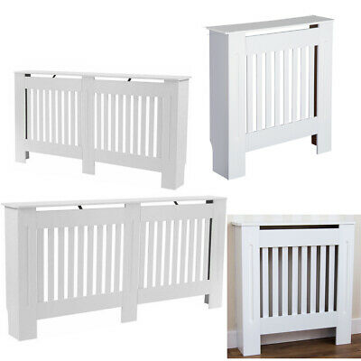 Radiator Cover Cabinet Grill Furniture Mdf Slatted Wood Decor Traditional White