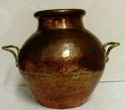 Antique, Copper Hand Made & Seamed Early 19th Century Indian Water Urn.