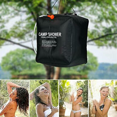 Portable 40L Solar Camping Shower Outdoor Hiking Heated Bathing Water Bag asf