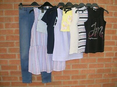 RIVER ISLAND GAP H&M DISNEY etc Girls Summer Bundle Tops Dress Shorts Age 11-12