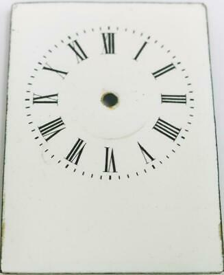 Antique French Porcelain Carriage Clock Dial 82mm High x 59mm Wide