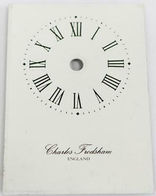 Vintage English Enamel Charles Frodsham Carriage Clock Dial 88mm x 62mm