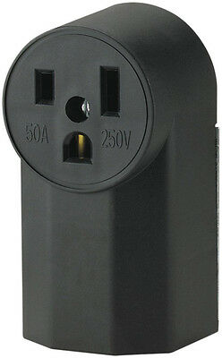 Cooper Wiring Devices WD1252 50-Amp 250-Volt Power Receptacle, Black