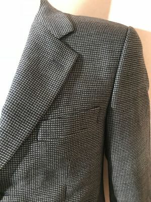 St Michael Marks & Spencer Mens Navy Blue and Green Wool Check Blazer Jacket 38L