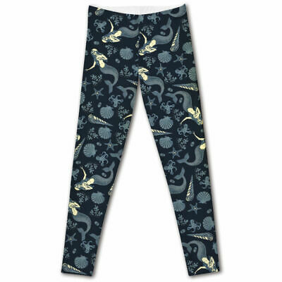 Seahorse Ocean Life Angel Fish Leggings ONE Size OS 2-12 Buttery Soft Women/'s