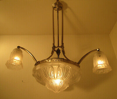 Beautiful French Art Deco Chandelier 1925