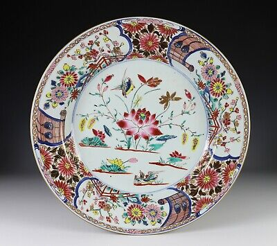 Superb Large Antique Chinese Porcelain Enameled Charger Plate - Kangxi Period