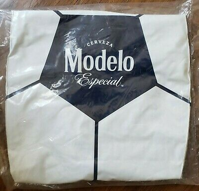 Modelo Especial Beer XL Soccer Ball Inflatable Cerveza approx 2' NEW White Navy