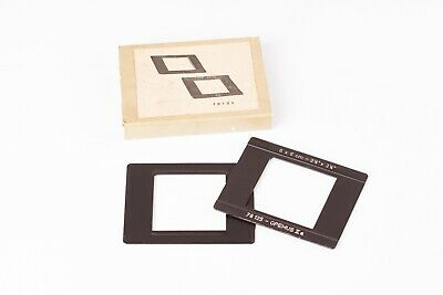 Meopta 6x6cm  Glassless Neg Carrier Inserts for Opemus Enlargers - Boxed, VGC.
