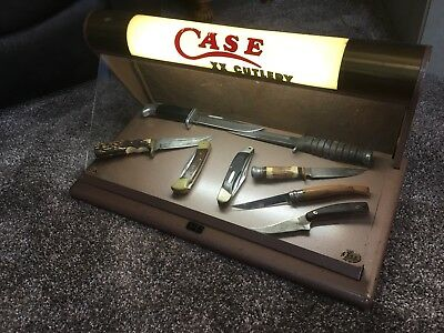 Rare Knife  Case Cutlery  Lighted Display Crystal Manufacturing Chicago