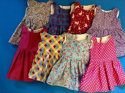 "Fits American Girl Maplelea Doll Lot 18"" Doll Dolls Clothes ** 8 dresses** new"