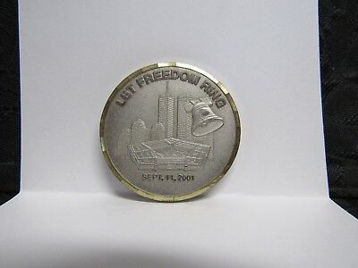 Spirit of Sept 11th Lets Roll Let Freedom Ring Pentagon WTC Challenge Coin