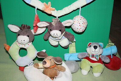 Toys For Baby Sterntaler Baby Set Rassel Wagenkette Puppe Knisterbuch Armband Schnuffeltuch