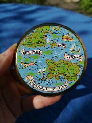 Gorgeous Vintage Channel Islands Powder Compact by Mascot Unused BNWOT