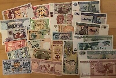 50 UNC NOTES 50 DIFFERENT BANKNOTES FROM MANY DIFFERENT COUNTRIES