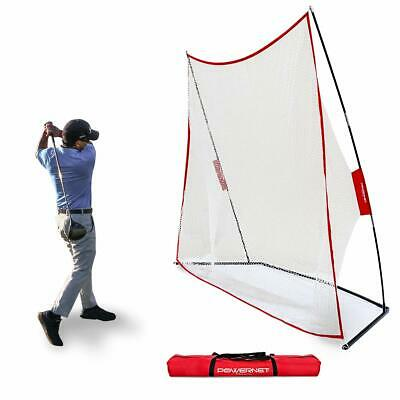 PowerNet 10x7 Golf Practice Training Net Large Hitting Surface for Drives Chips