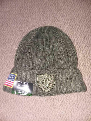 907a55dd HOUSTON TEXANS BEANIE HAT CAP SALUTE TO SERVICE army GREEN NEW ERA ...