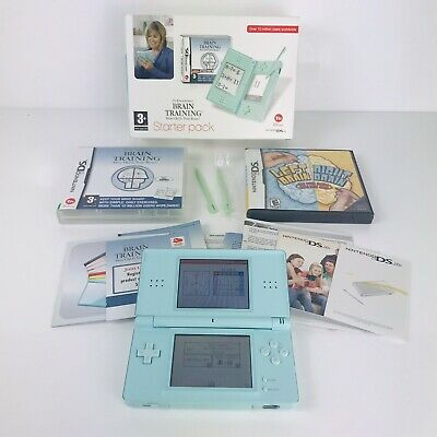 Nintendo DS Lite Ice Blue Boxed Brain Training Edition Excellent Condition