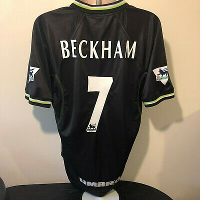 Manchester United Football Shirt 1998 1999 Retro Classic BECKHAM 7 Umbro XL Utd