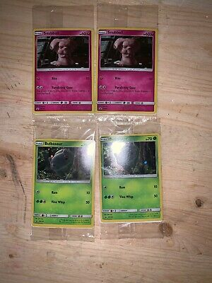 Detective Pikachu Card Bulbasaur Snubbull Promo New Holographic lot of 4