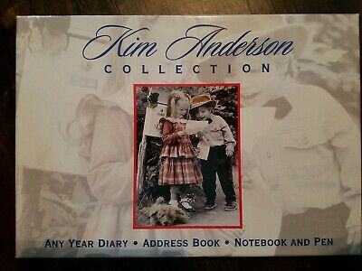 Kim Anderson Collection Any Year Diary Address Book Notebook & Pen Desk Gift Set