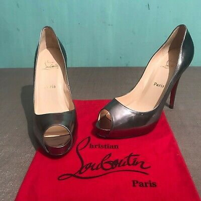 3abca7057dc NEW CHRISTIAN LOUBOUTIN Patent Leather Very Prive 120 Sz 40 ...
