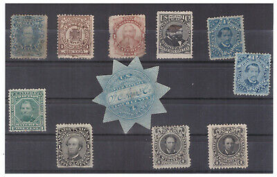 US COLLECTION OF CIVIL WAR Match and Medicine STAMPS - A FEW with SMALL FAULTS