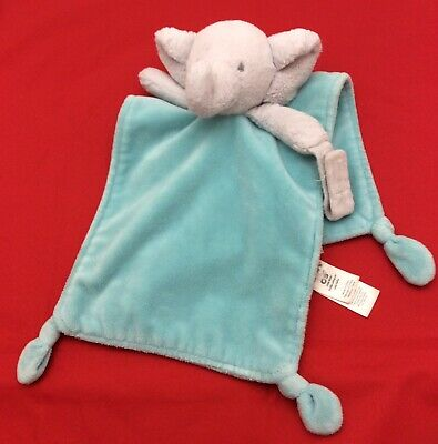 Blue Elephant Baby Lovey Security Blanket Nursery Bedding