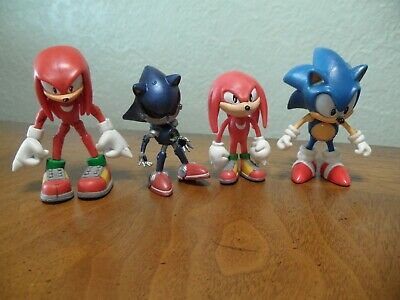 Rare Sonic X Rouge Action Figures With Chaos Emerald 5 Figure Mint