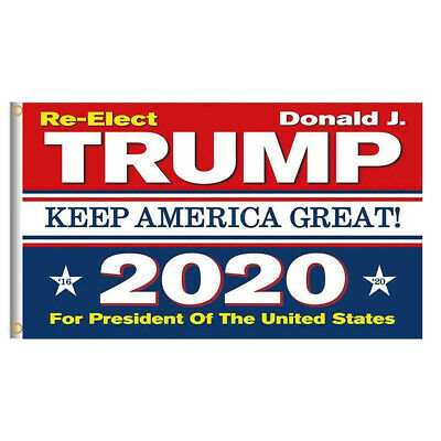Re-Elect Trump 2020 President US Keep America Great Make Donald 3x5 Ft Flag USA