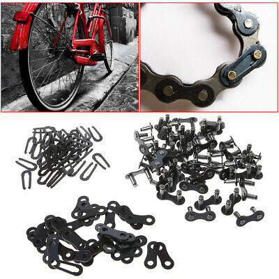 50Pcs Metal Chain Master Link Joint Clips Connectors for MTB Bike Bicycle