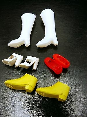 Vintage Lot Of Barbie Ken Doll Shoes Boots
