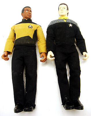 Vintage Star Trek Next Generation Action Figures Data Geordi La Forge 9.5 Inch