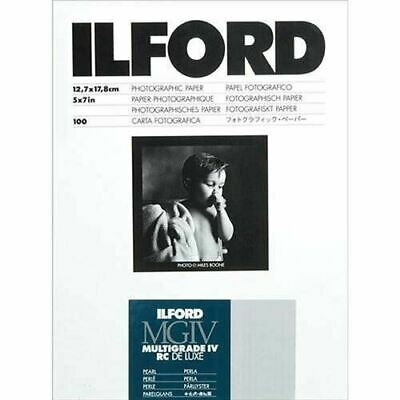 """Ilford Multigrade IV RC Deluxe 5"""" x 7"""" 100 Sheets Pearl Paper"""