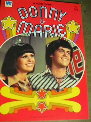 DONNY & MARIE Paper Dolls and Coloring Book 1975  UNCUT/EXCELLENT