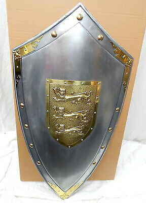 Marto Of Spain Richard The Lionheart Crusaders Shield Steel Brass Medieval Armor