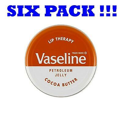 Six Pack Vaseline Lip Therapy Cocoa Butter Lip Balm 20g (6x20g)
