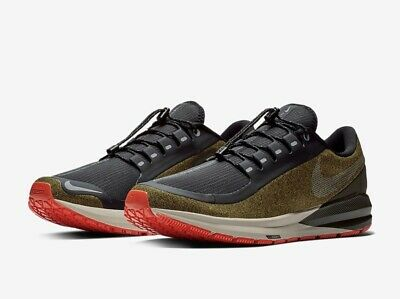 NIKE AIR ZOOM STRUCTURE 22 SHIELD UK 7.5 EU 42 Black Olive Water Resistant