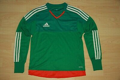 c7cb07d08 ADIDAS TOP 15 Boys Youth Green White Red Goalkeeper Goalie Jersey L YL Large